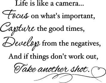 Amazoncom Epic Designs Life Is Like A Camera Focus On Whats