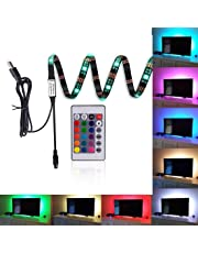 """Kohree Led Strip Lights 35.4"""" TV Backlight Bias Lighting RGB Lights with Remote Control for HDTV, Flat Screen TV Accessories and Desktop PC(16 Color)"""