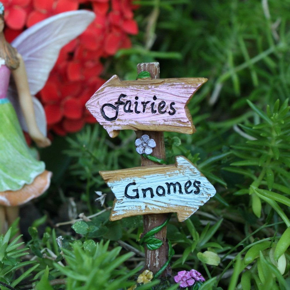 """Fairy Garden House Accessories Kit – Miniature Fairy Figurines – 7"""" High House – Door can open wide – Supplies by Pretmanns by Pretmanns (Image #7)"""
