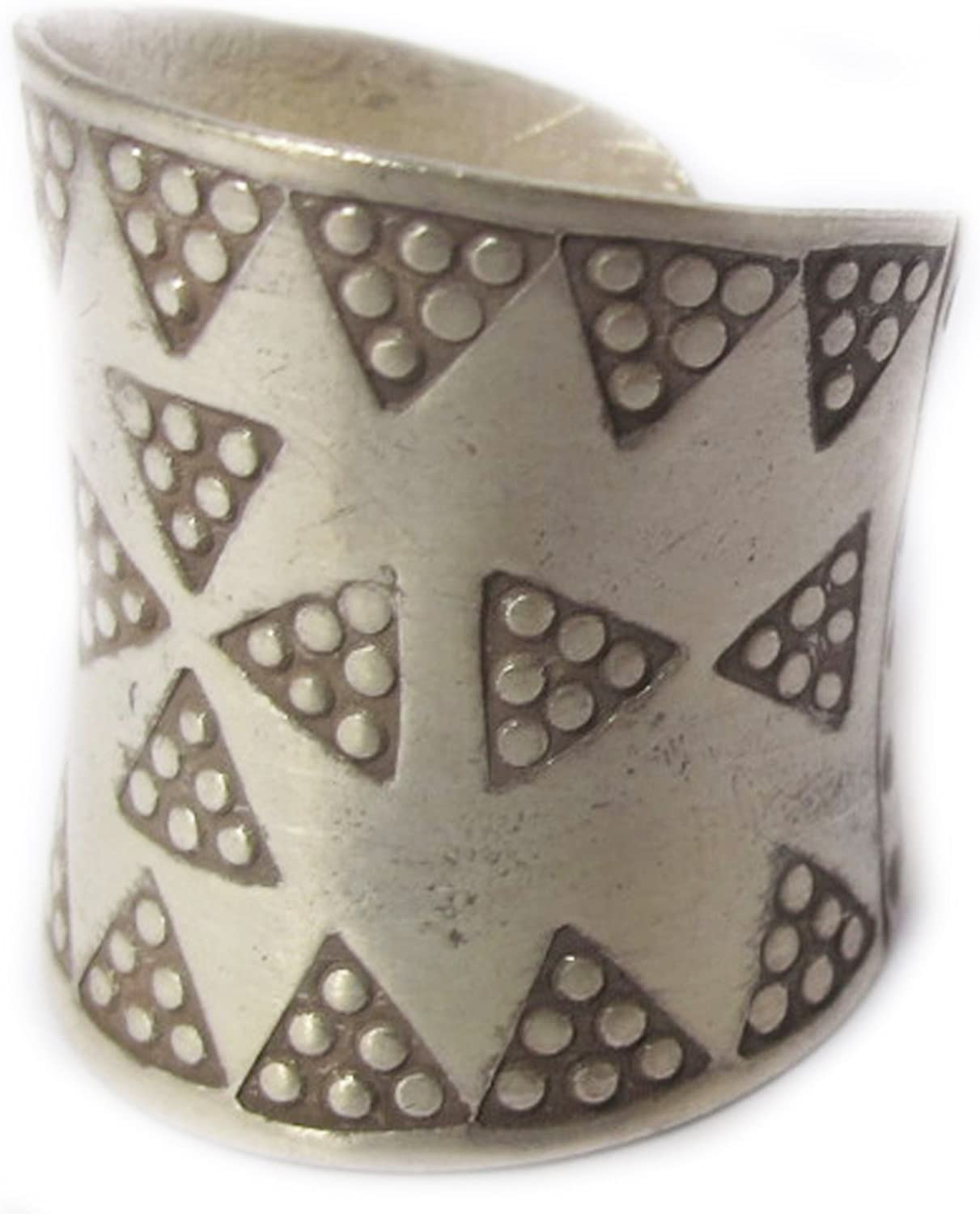 By Handmade Adjustable 7-8{KAREAN HILL TRIBE RING BOX 1004 Beautiful Ring Thai Karen Hilltribe Silver Ring Weight 7.46 G.. Size 7 No