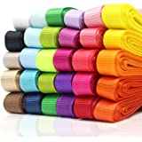 """JUSLIN 30-Color 3/8"""" Grosgrain Ribbon, 60 yards (30x2 yards), for Gift Wrapping & DIY Bow Hair Accessories"""