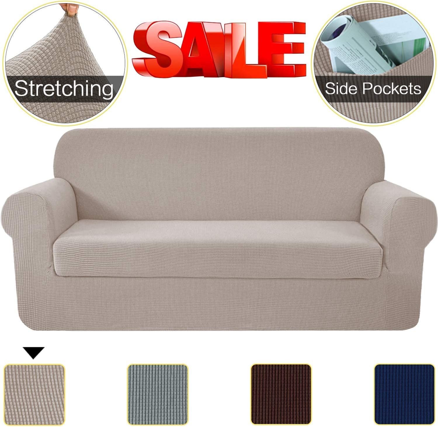 Amazon Promo Code 2020 for 2 Pieces High Stretch Couch Cover