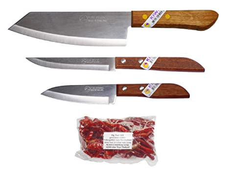 Amazon.com: 3 cuchillos de cocina tailandeses Kiwi # 171 501 ...
