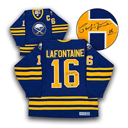d8877b067ed ... coupon for pat lafontaine signed jersey retro ccm blue autographed nhl  jerseys 6202e a179f