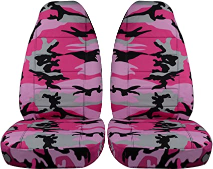 Camouflage Car Seat Covers Pink Camo