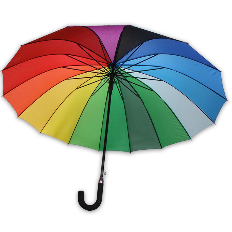 XXl Schirm RAINBOW II Regenschirm Partnerschirm Regenbogen Ø 120cm Damen Automatik