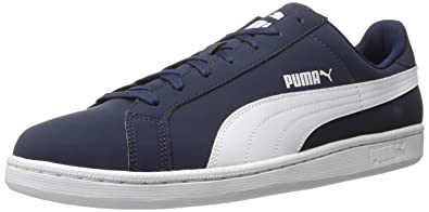 PUMA Men's Smash Buck Fashion Sneaker, Peacoat-White, ...