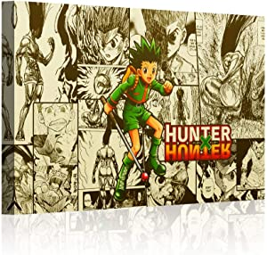 """QIXIANG Hunter X Hunter Anime Poster and Prints Canvas Wall Art Gifts Decor Wall Art Pictures Canvas HD Printed Anime Painting Framed Poster Modern Home Decor Room (12""""x18"""", Artwork-04)"""
