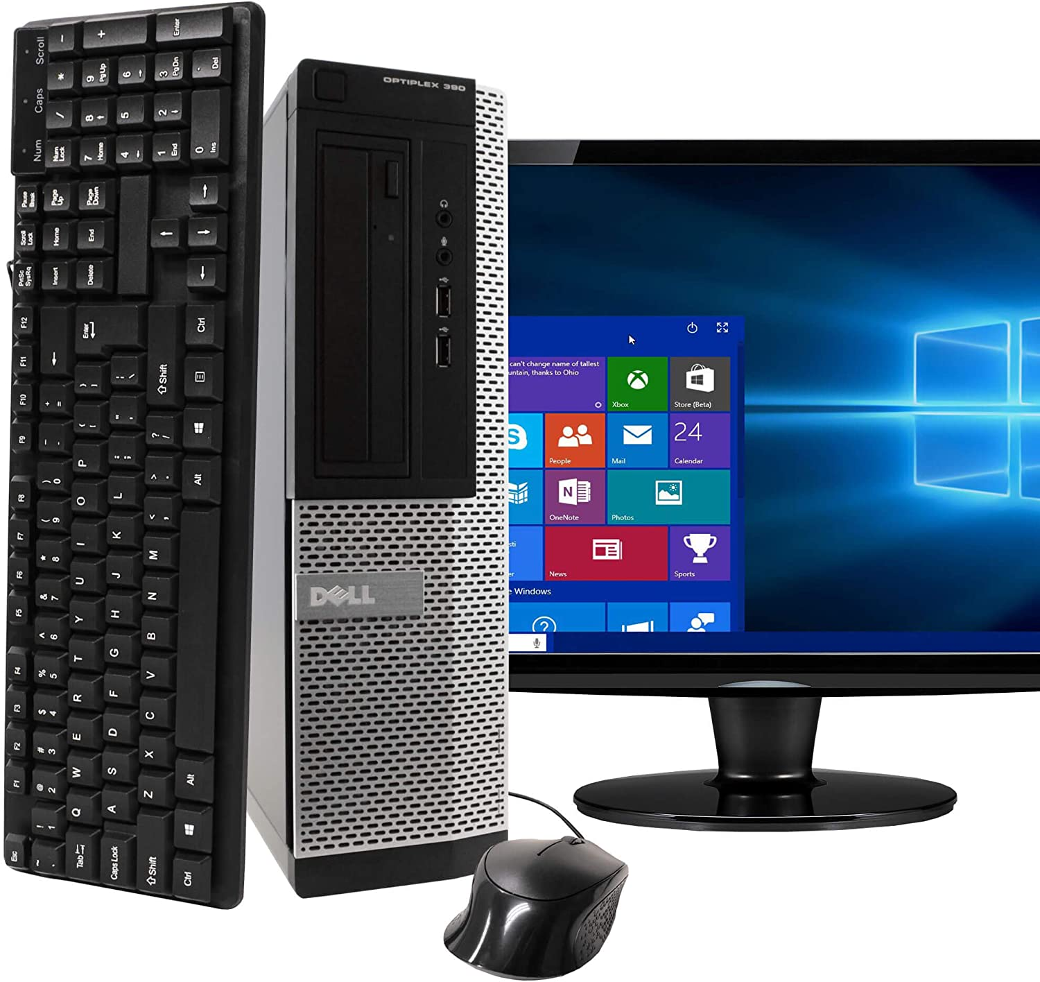 DELL Desktop Computer Package with 22in Monitor(Brands May Vary)(Core I5 Upto 3.4GHz,8GB,1T,VGA,HDMI,DVD,Windows 10-Multi Language Support-English/Spanish/French) (CI5)(Renewed)