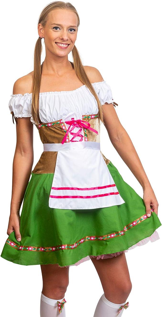 Amazon.com: Skeleteen Oktoberfest Beer Girl Costumes - Traje ...