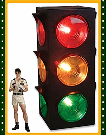 New Large Blinking 3-Sided Traffic Light Signal Lamp, Toys & Games ...