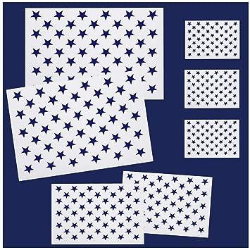 Amazon Com Whaline 7 Pieces American Flag 50 Stars Stencil Template