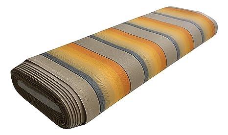 Tessuti Tende Da Sole Per Esterni.Tessuto Per Tende Da Sole A Righe Sfumate Venduto A Mezzo Metro 1