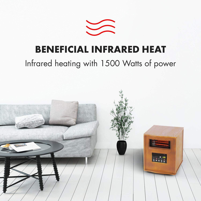 Klarstein Heatbox Calefactor infrarrojo • Aparato portátil • Calefacción con ruedecillas • 1500 W • De 15 a 30 °C • Programable Durante 12 Horas ...