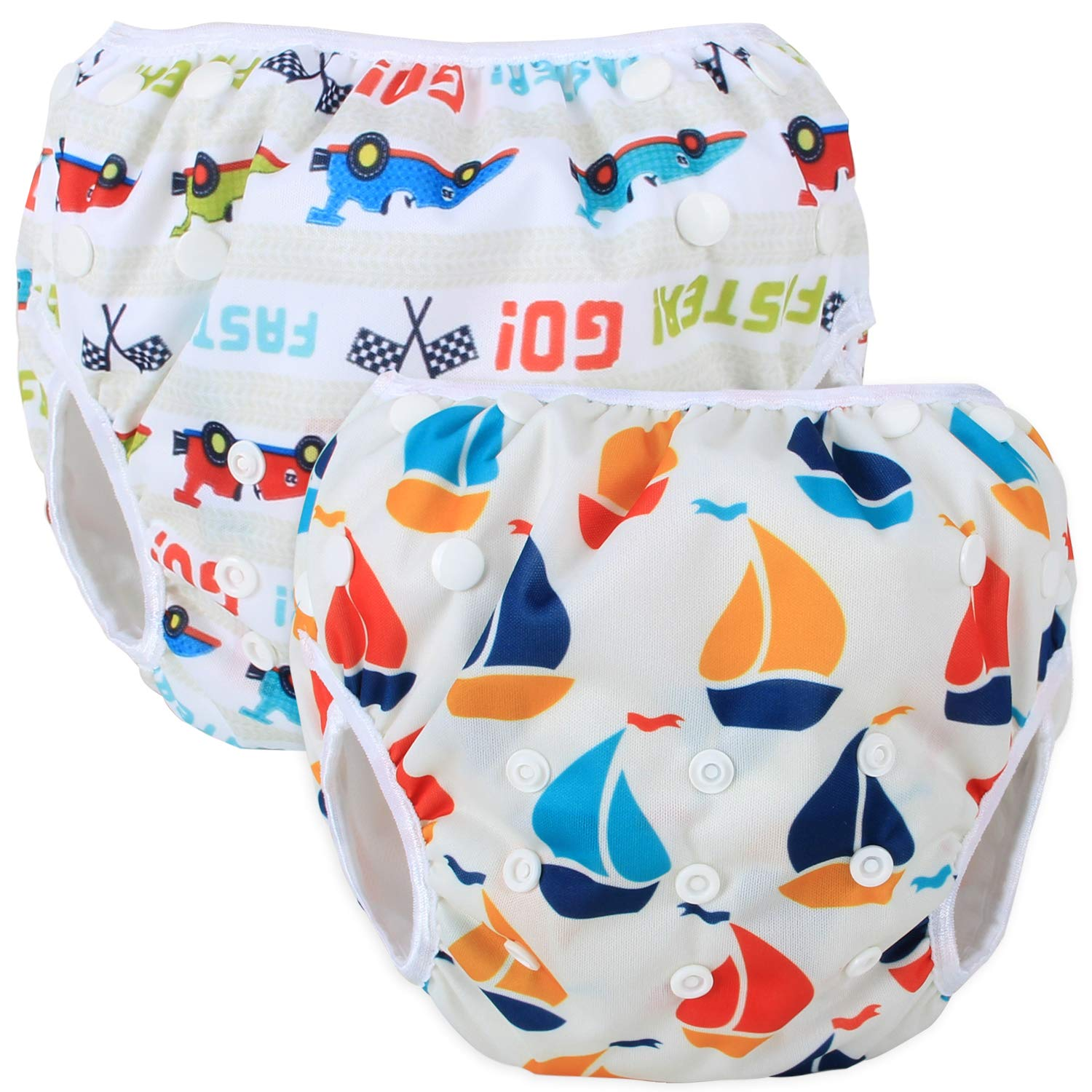 2 Pcs Pack Washable Swimming diapers for Baby Boys /& Girls Ideal for Swimming Lessons//Holiday Teamoy Reusable Swim diapers