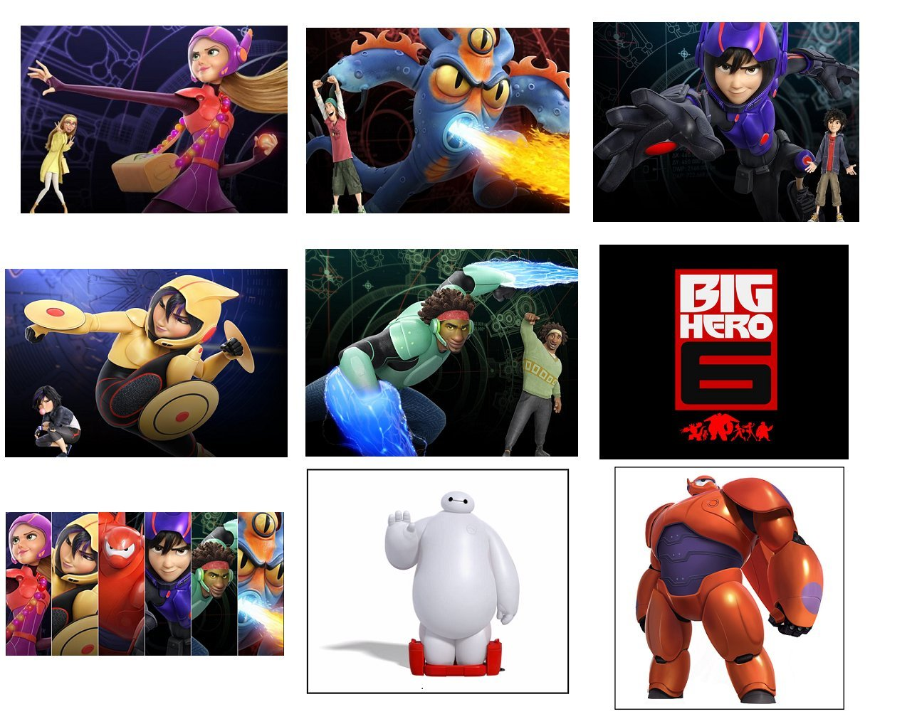 Amazon 9 Big Hero 6 Stickers Party Supplies Favors Labels Rewards Crafts Scrapbooking Birthday Decorations Baymax Arts Sewing