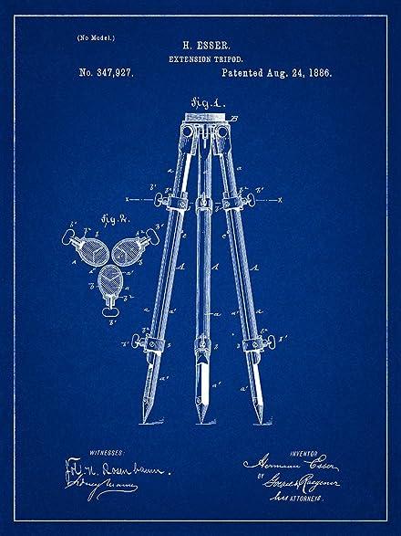Amazon camera tripod 1886 patent photography blueprint style camera tripod 1886 patent photography blueprint style art print 8x10 inch malvernweather Gallery