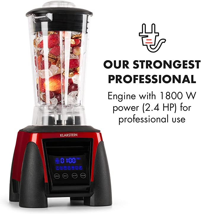Klarstein Herakles 8G batidora licuadora de vaso (1.800 W potencia ...