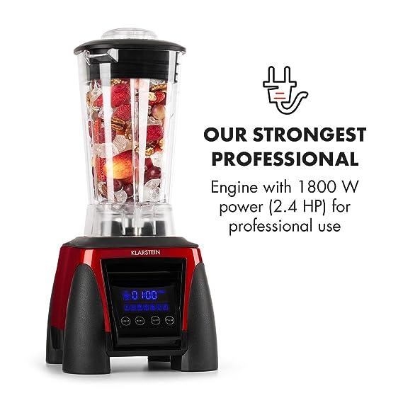 Klarstein Herakles 8G batidora licuadora de vaso (1.800 W potencia, 38.000 rpm, 50/60 Hz, 2 litros de capacidad, 6 cuchillas de acero inoxidable, ...