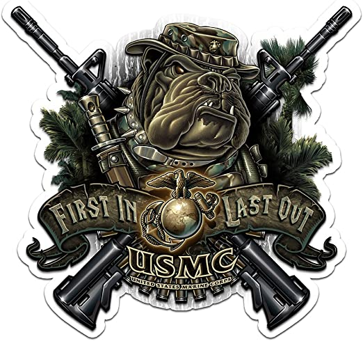 amazon com collectible marine corps decals 4in 2pack share your support with our vinyl marine devil dog first in last out stickers for your home car cases and more souvenir gifts for marine corps collectible marine corps decals 4in 2pack share your support with our vinyl marine devil dog first in last out stickers for your home car cases