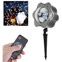 LED Snowflake Christmas Laser Projector Light with Romote, IP65 Waterproof, Snowfall Projection Light Xmas Lamp for Holiday Outdoor Christmas Decoration