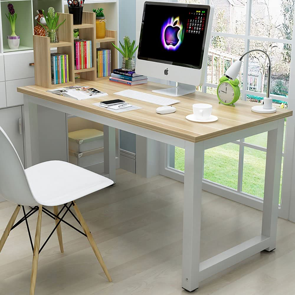 Amazon Com 44 Laptop Computer Desk Pc Table Wood Workstation Study Writing Gaming Bench Home Office Furniture Kitchen Dining