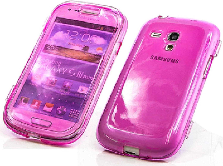 Carcasa de TPU silicona Funda para móvil Samsung i8190 Galaxy S3 SIII Mini rosa color Bag Funda