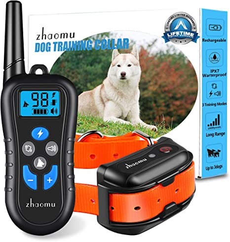 Petrainer Rechargeable Dog Training Shock E Collar for Small Medium Large Dogs