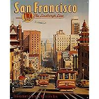San Francisco Póster De Pared Metal Retro Placa