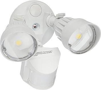 Ledpax Technology Led Security 20w 100w Equivalent Motion Sensor Light 800 Lumens 5000k Waterproof Ip65 Ul Listed 2 Head White Amazon Com