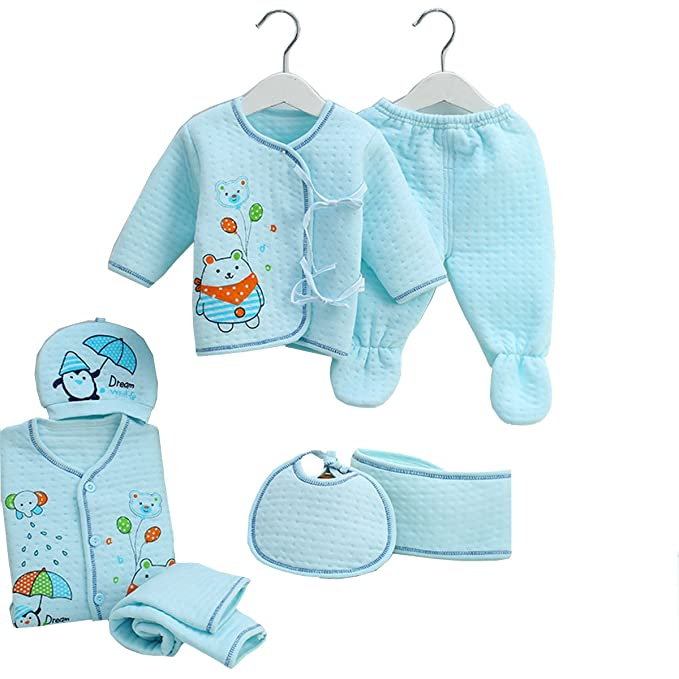 6c9e5bc69 Newborn Baby Clothing Sets 7pcs Essential Layette Animal Rompers ...