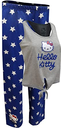 c1da0ccbe Hello Kitty All American Capri Length Pajama Set For Women (L) at ...