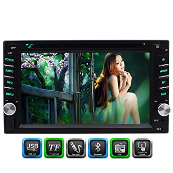 6 Stéréo 2 Bluetooth Hd 2 Universal Eincar Car Fm Pouces Din Radio Tlc3F15KuJ