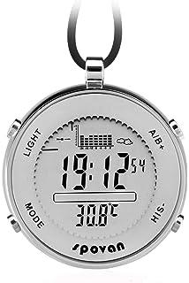 Reloj De Bolsillo Reloj Digital Sport Outdoor Hombre Reloj Altímetro Barómetro Termómetro Pesca Cuarzo Plata…