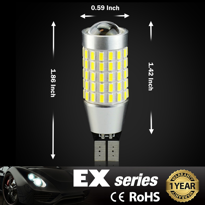 Xenon White JDM ASTAR Extremely Bright 2000 Lumens 360-Degree Shine 921 912 90-EX Chipsets LED Bulbs For Backup Reverse Lights