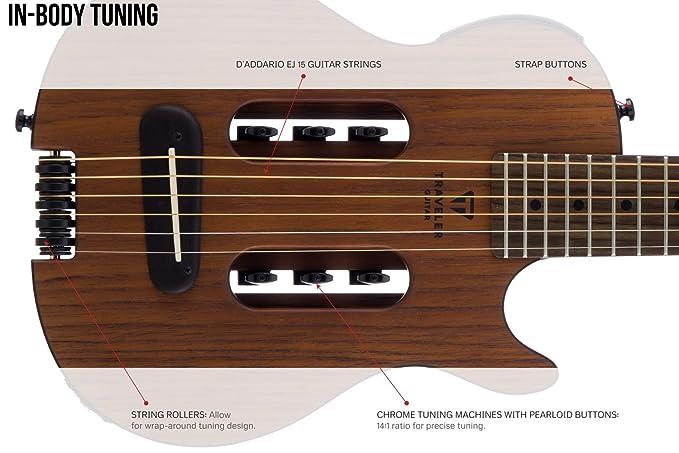 Traveler - Guitarra acústica de viaje, diseño de escape Mark III de caoba: Amazon.es: Instrumentos musicales