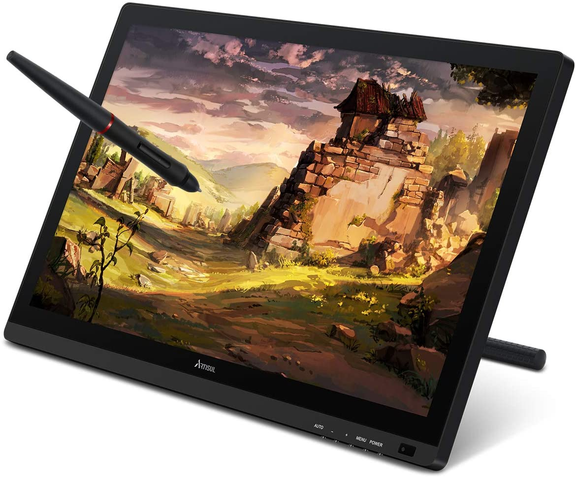 Artisul D22S 21.5inch Graphic Tablet with Screen Pen Display,8192 Levels Pen Sensitivity with 60°Tilt,1920x1080 FHD Graphic Drawing Monitor Included Adjustable Stand
