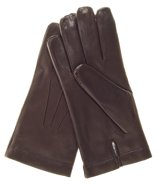 Fratelli Orsini Mens Italian Rabbit Fur Lined Leather Gloves
