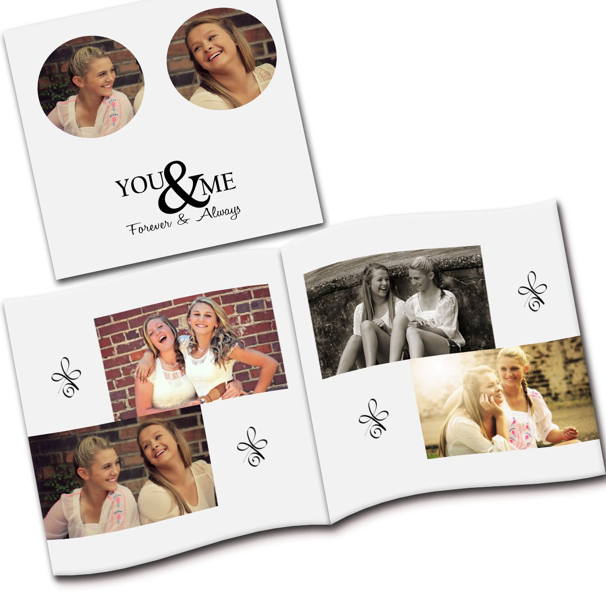 Customized Best Friends Forever Flip Photo Book Album
