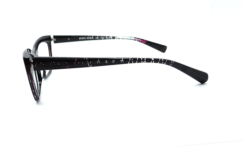 Alain Mikli Rx Eyeglasses Frames A03016 F006 53x15 Diamond Black Fuxia Italy