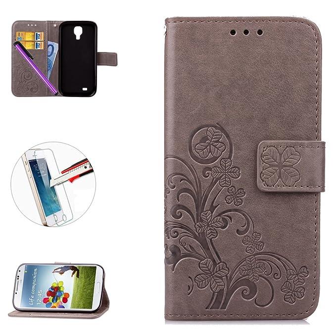 2 opinioni per Samsung Galaxy S4mini custodia, custodia flip cover per Galaxy S4mini, GT