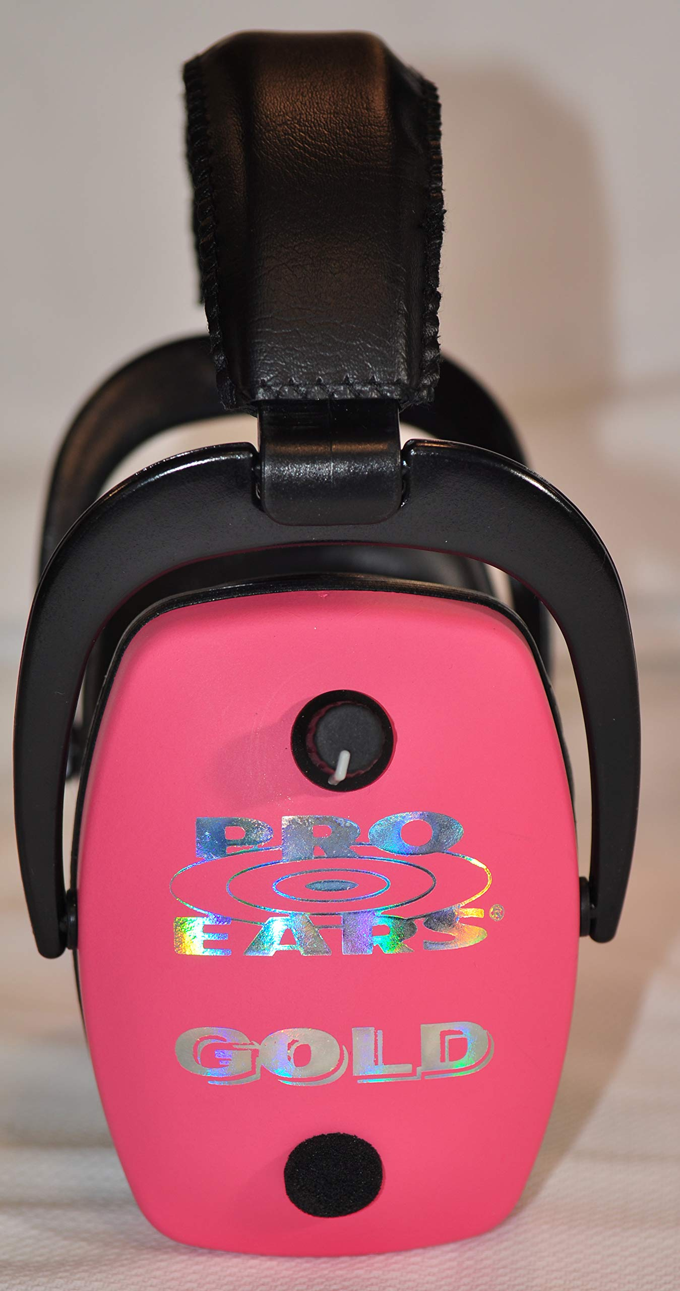 Pro Ears Pro Mag Gold Hearing Protection and Amplification Ear Muffs, Pink