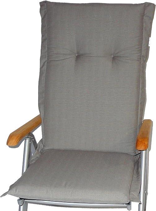 cojín silla de jardín, cojin, pad para sillas de resped//con cierres de cremallera///longitud total acera de 120cm//ancho 52cm// espesor 7cm: Amazon.es: Jardín