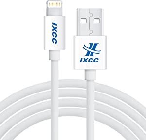iXCC 10ft Extra Long Apple MFi Certified Lightning 8pin to USB Charge and Sync Cable for iPhone SE/5/5s/6/6s/7/Plus/iPad Mini/Air/Pro -White