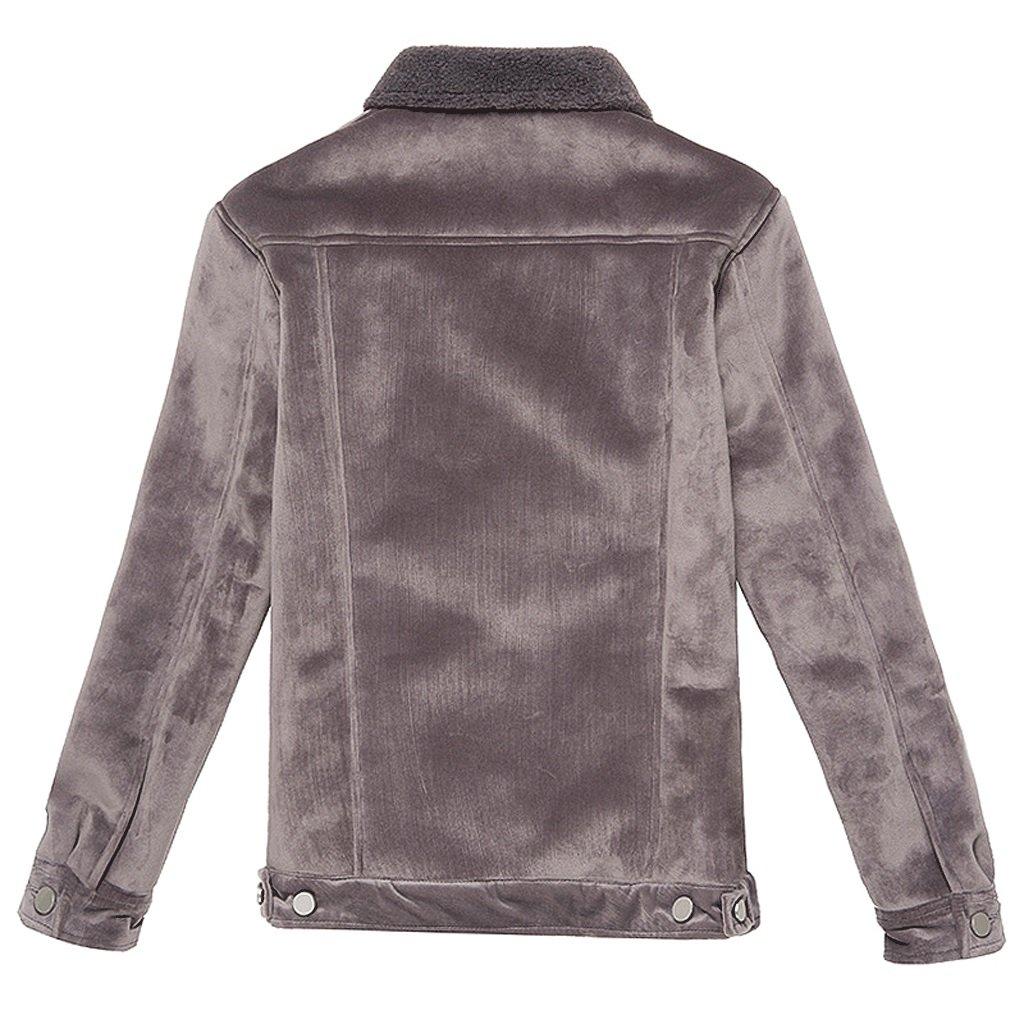 Blusa de la moda de la ropa de la capa corta de la chaqueta del otoño (Color : Gris , Tamaño : Metro) : Amazon.es: Hogar