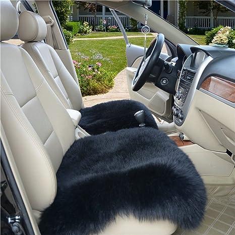 Wool Car Interior Seat Cover UM Fluffy Faux Sheepskin Cushion Pad Winter Mat Universal