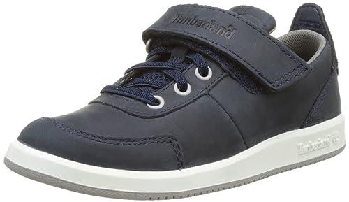 Timberland CA1IWC, Zapatillas con Velcro Infantil, Azul (Black Iris Saddleback Full Grain), 33 EU