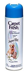 Carpet Fresh Super Pet Carpet and Room Pet Oder Eliminator,Animal Smell remover, No Vacuum Formula, 10.5 OZ[6-pack]