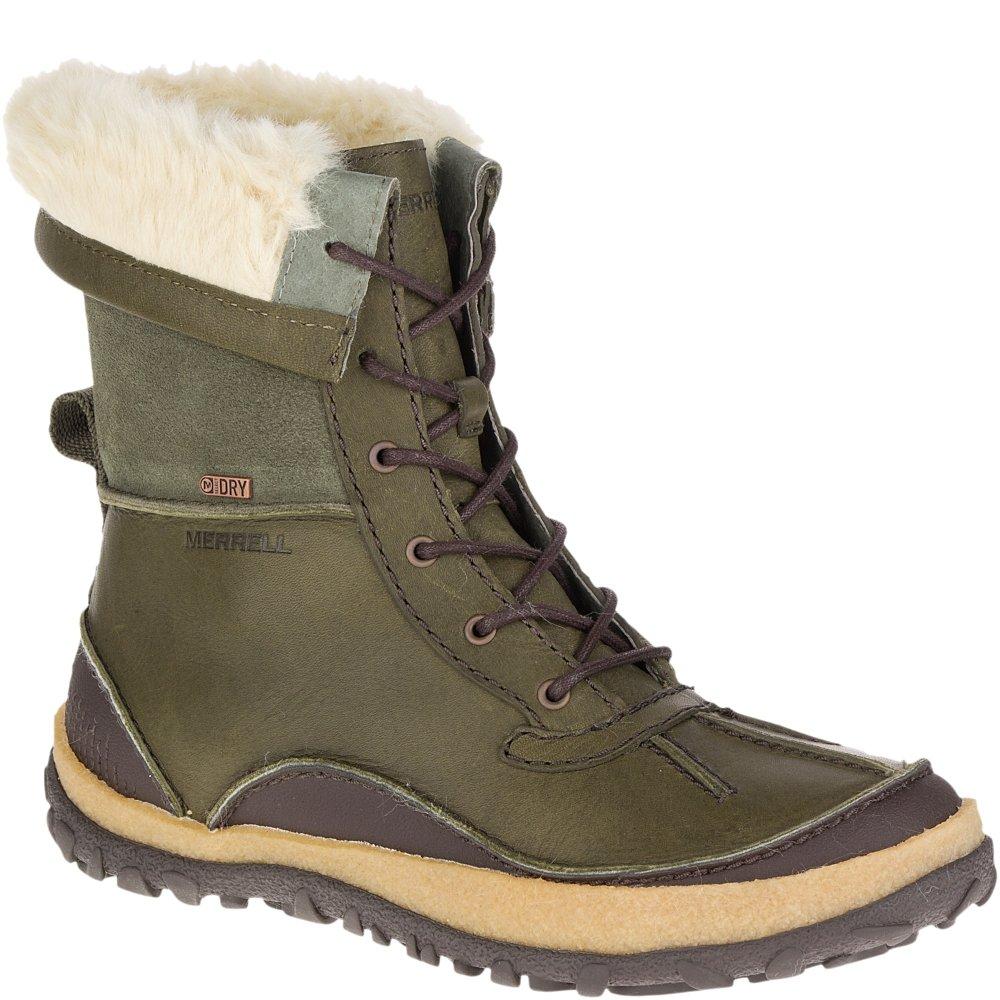 Merrell Women's Tremblant Mid Polar Waterproof Snow Boot, Dusty Olive, 10 M US