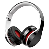 Casque Bluetooth Sans Fil Fonction 4-en-1, NickSea Casque Pliable, Microphone Intégré, Bluetooth, Radio, Carte de Mémoire, 20h de reproducir, 250h de travail, Compatible avec iPhone, PC Mac etc